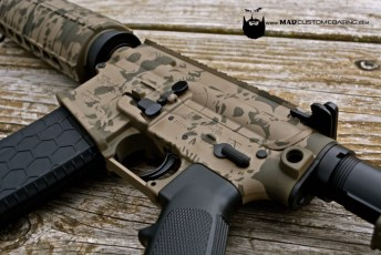 MAD Skull pattern on a Sig Sauer AR15 w/ all accessories in MAD Black