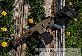 AR Pistol in MAD Black & Magpul FDE