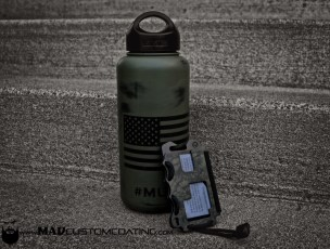 War Torn American Flag on a Klean Kanteen Water Bottle