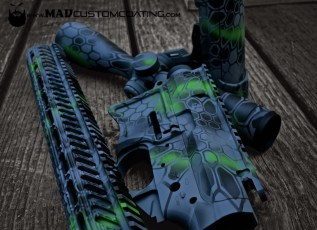 MAD Dragon Camo on a Seekins Precision AR set in MAD Black, MAD Green, Sniper Grey & Smith's Grey