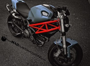 Ducati Monster in our custom mix Mike498 Grey w/Black logos and Armor Clear