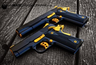 Kimber 1911s in MAD Black and Gold