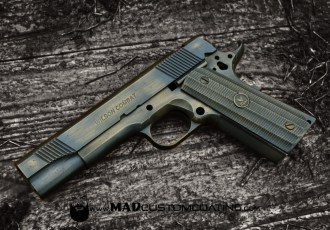 War Torn on a Wilson Combat 1911 in Burnt Bronze & Black