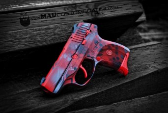 Red MAD Dragon Camo on a Ruger .380