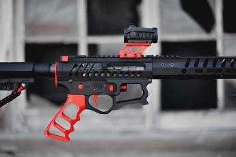 USMC Red Tactical Dynamics parts on an F-1 Firearms AR15