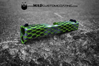 Zombie Green Net Pattern on a Glock 42 slide