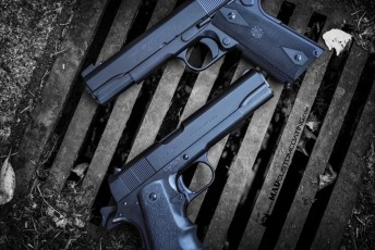 MAD Black on a pair of Colt 1911s