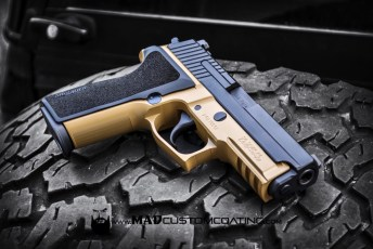 Sig P229 in MAD Black & Mud Brown