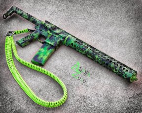Toxic theme on a SanTan Tactical AR15