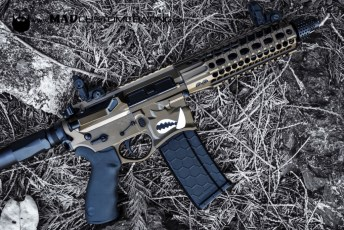 Dark Bronze & MAD Black on a Sharps Bros Warthog AR