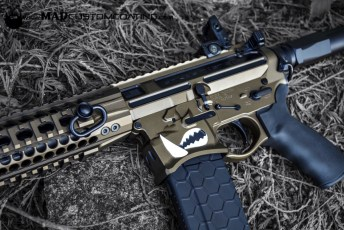 MAD Black & Dark Bronze on a Warthog AR15 Pistol