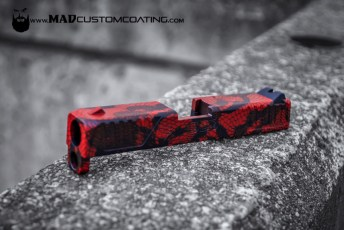 MAD Black & USMC Red lace pattern