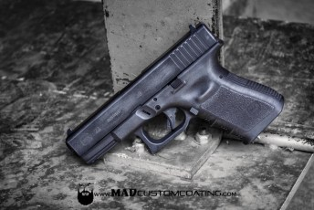 War Torn Glock in MAD Black & Tactical Grey
