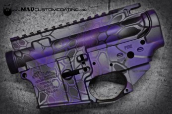 Purple MAD Dragon on an AR15 receiver set