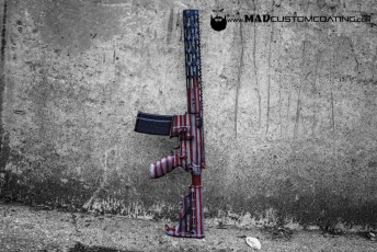 War Torn American Flag on a Sig AR15