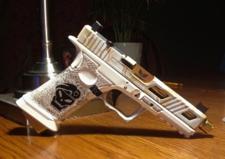 White & Gold MAD Dragon on a JagerWerks Slide