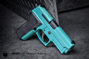 Sig P229 in Robin's Egg Blue