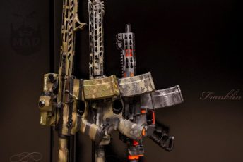 MADLand Camo on various AR15s
