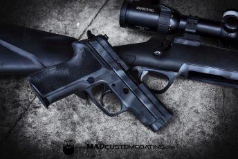 MAD Edge Camo Sig handgun and bolt action