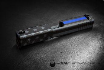 Think Blue Line American Flag in MAD Black & Sniper Grey