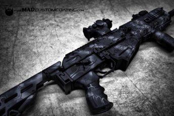 Black MAD Dragon Camo on a Fostech Shotgun