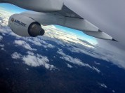 A skew shot of the 'plane's wing