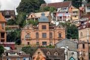 Houses on the hillside in downtown Antananarivo.