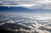 The hills north of Kathmandu