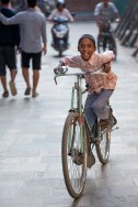 Big bike, small boy: Patan
