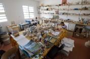 The pottery studio.