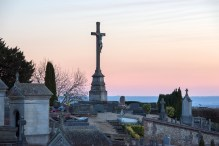 A cemetery, Bonsecours, France
