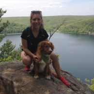 Hiking Devil's Lake in Wisconsin