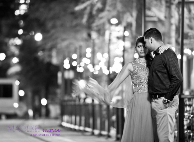 downtown memphis engagement couple
