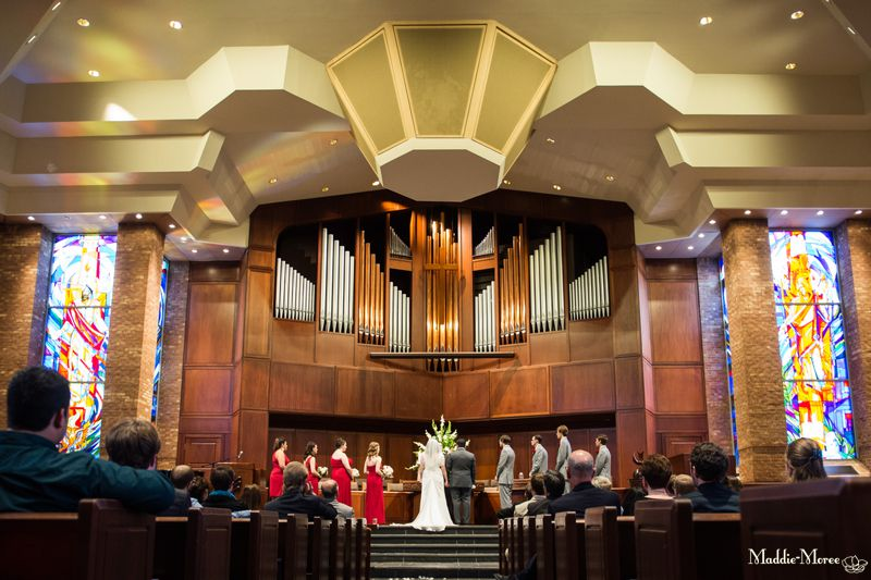 Christ Methodist wedding ceremony photographer