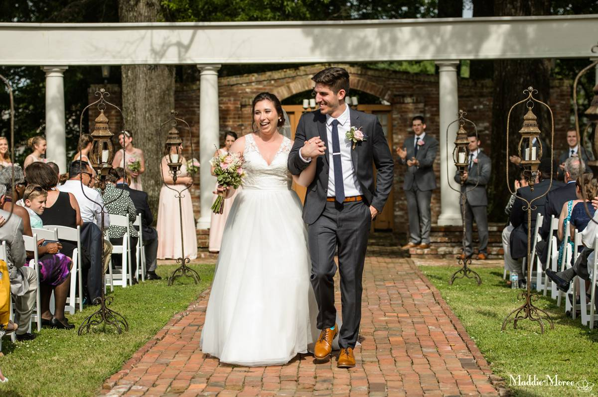 Cedar Hall Wedding recessional