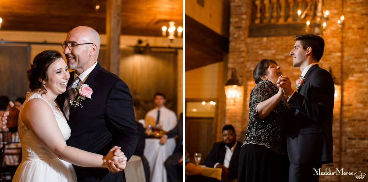 father daughter, mother son dance