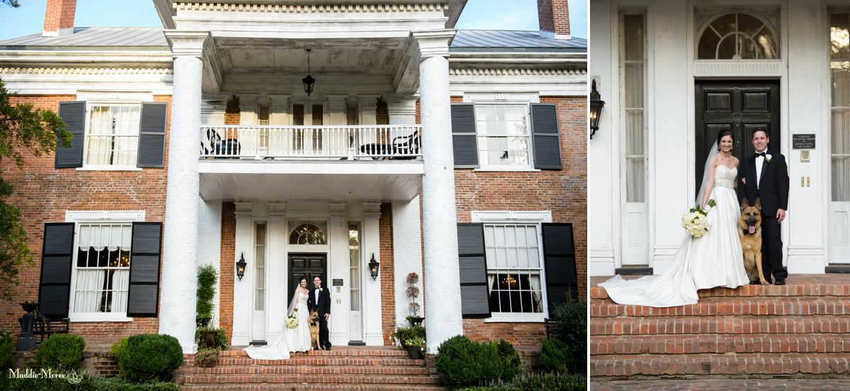 Cedar hall bride and groom portraits