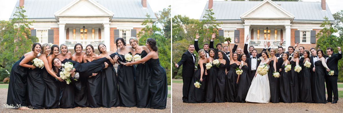 Cedar Hall wedding party