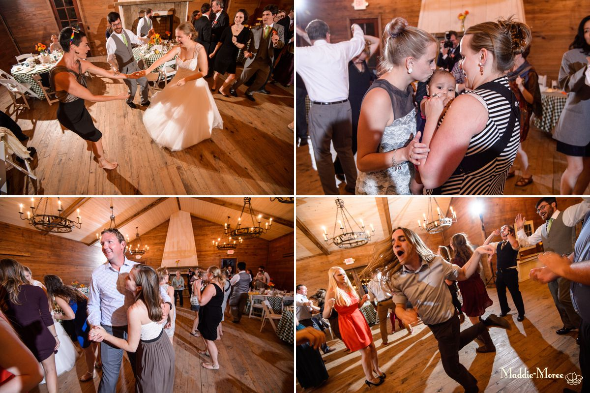 barn at crawfordsville wedding reception