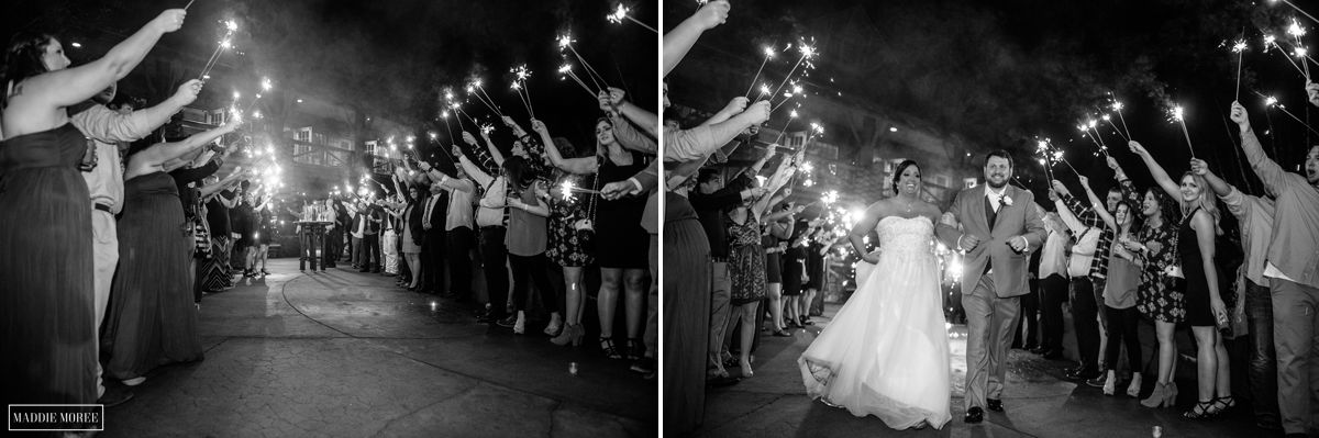 Memphis Zoo Wedding photography sparkler exit