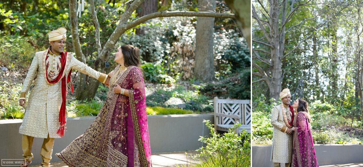 botanic gardens bride groom portraits
