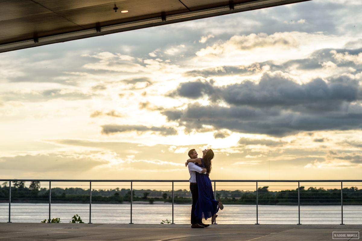 Derin Bryan Downtown engagement photography sunset