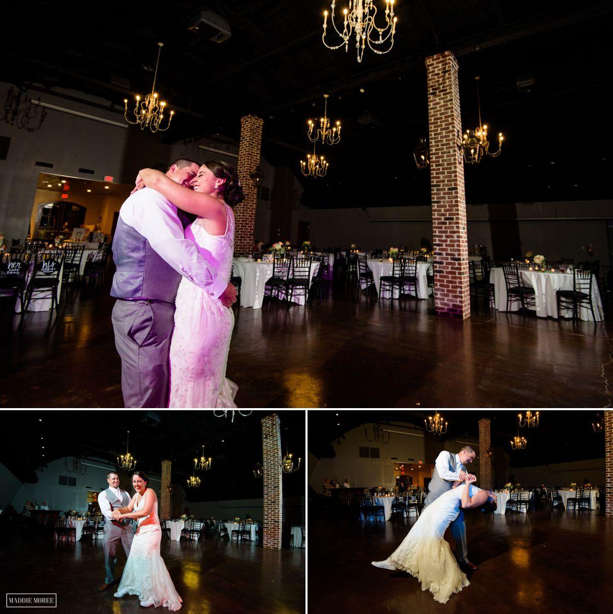 Reception bride and groom last dance