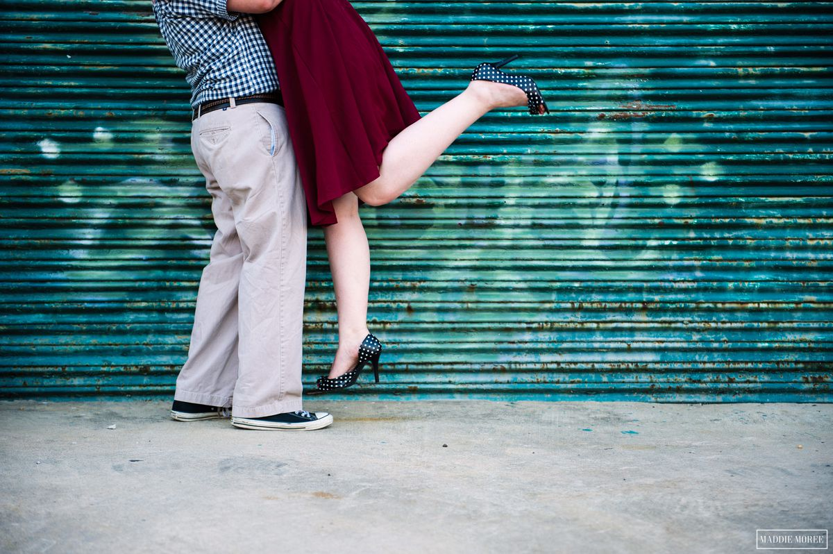 downtown industrial engagement session maddie moree