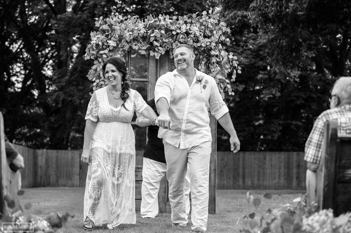 Marion small wedding photography recessional