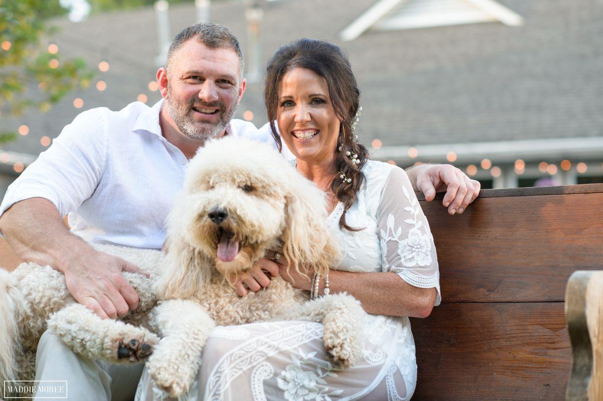 golden labradoodle wedding photography