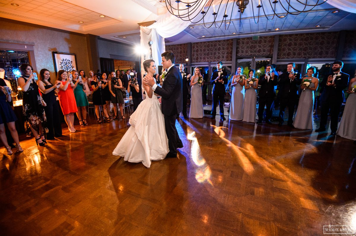 Chickasaw Country Club Memphis Wedding reception first dance bride groom