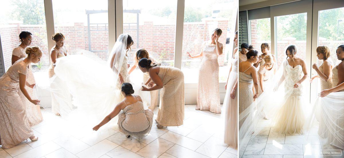 bridesmaids getting ready maddie moree