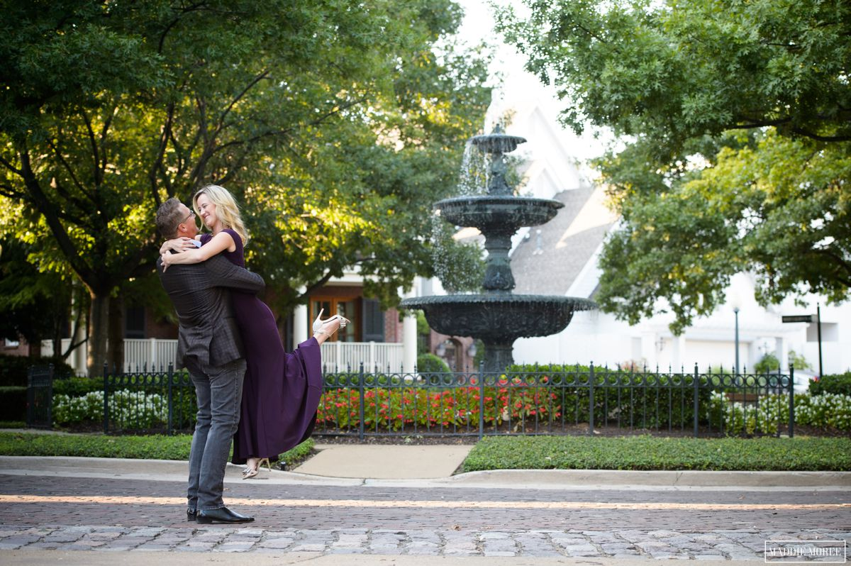 formal engagement photography water fountain