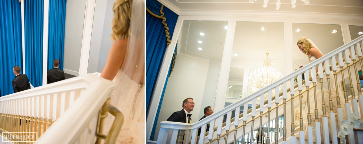 Guesthouse at Graceland wedding photography first look maddie Moree